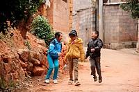 Children, puzhehai, Yunnan province, China