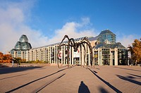 The National Gallery of Canada and the Maman (sculpture) in Ottawa, Ontario, Canada.