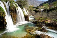 Waterfall of Bregava river in Stolac, Bosnia and Herzegovina.