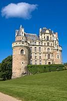 Brissac Castle, Brissac-Quince, Angers District, Maine-et-Loire department, Pays de la Loire, Loire Valley, UNESCO World Heritage Site, France, Europe...