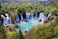 Kravica waterfall near Ljubuski, Bosnia and Herzegovina