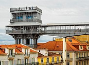 Portugal, Lisbon, View of the Santa Justa Lift.