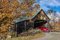 Lincoln Covered Bridge, Woodstock, Vermont, USA.