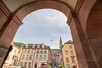 View from Carl Theodor Old Bridge in Heidelberg, Germany