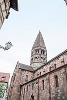 Selestat in Alsace cityscape France.