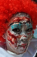 Chatan, Okinawa, Japan: Japanese woman at the American Village of Miyama during Halloween