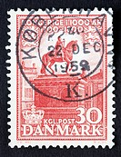 Danish postage stamp.
