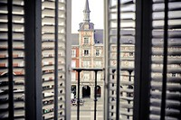 Building on Plaza Mayor (main square), Madrid, Spain