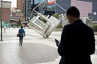 Pablo Ruiz Picasso Square. Azca financial district. Madrid. Spain.