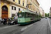 public transport in Rome.