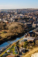 An Elevated View Of The Town Of Lewes, East Sussex, UK.