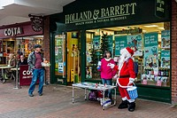 People Collecting Money For Charity, High Street, Lewes, Sussex, UK.