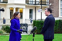 Jon Ashworth MP (Labour - Leicester South) Shadow Secretary of State for Health, being interviewed for TV in London, Jan 2017.