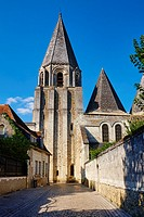 France, Indre-et-Loire (37), Loches, Royal castle and dwelling, St-Ours church, collegiate Notre Dame.