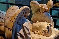 France, Indre-et-Loire (37), Loches, St-Ours church, collegiate Notre Dame, Agnes Sorel recumbent statue.