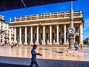 France, Aquitaine, Gironde. Grand Theatre, at Bordeaux.
