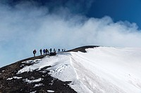 Guided excursion, Torre del Filosofo, Etna National Park, Province of Catania, Sicily, Italy, Europe.