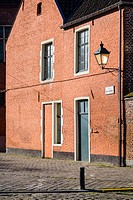 Belgium, Flanders, Ghent (Gent). Historic buildings in Oud Begijnhof Sint-Elisabeth, Saint Elisabeth Béguinage.