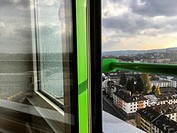 Aachen, Germany. View on the city from a dormatory's 16th floor.