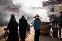 Nepal, Bouddhanath, local temple.