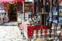 Handmade street in Bascarsija neighborhood, Sarajevo, Bosnia and Herzegovina
