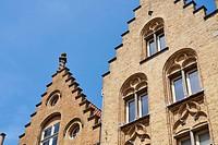 Belgian style homes in Ypres. West Flanders. Belgium.
