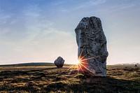 Avebury Rings, stone circle, Wiltshire, England, UK.