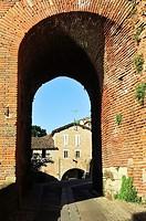 Arc of a bridge. Albi city, Tarn department, Occitanie region, France