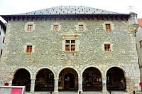 The Renaissance Town Hall, XVIth century. Bielsa, Huesca province, Spain