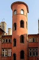 La Tour Rose 16, rue du Boeuf, Old Town UNESCO World Heritage Site, Lyon, France, Europe
