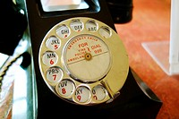 Old vintage telephone. Basildon Park. Country house. Berkshire. England.