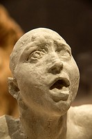 statue ´The Scream´ from Rodin, museum, Groningen, Holland