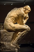 statue ´The Thinker´ from Rodin, museum, Groningen, Holland