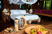Six Senses Resort, Koh Yao Noi, Phang Nga Bay, Thailand, Asia. Inside a Bunglow. Six Senses Yao Noi sets the highest benchmark for island resort livin...