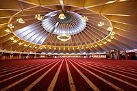 Sheikh Khalifa Bin Zayed Al Nahyan Mosque interior in Shymkent Kazakhstan.