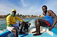 speedboat coming from Ngor Island, Dakar, Senegal, West Africa.