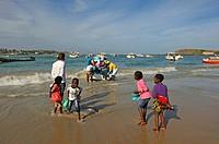 beach at Ngor village, Pointe des Almadies, Dakar, Senegal, West Africa.