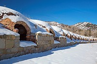 Redstone, Colorado - Coke ovens, built in the 1890s, which produced coke from coal mined nearby for the Colorado Fuel and Iron Company.