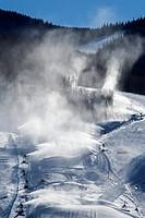 Vail, Colorado - Snowmaking at Vail Ski Resort.