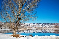 Sapinero, Colorado - Blue Mesa Reservoir on the Gunnison River in Curecanti National Recreation Area.