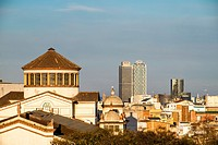 Panoramic of Barcelona from Montjuic Catalonia Spain.