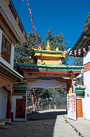 Inside the main gate of 400-year-old Tawang Gompa, a Tibetan Gelugpa (Mahayana Buddhist) monastery in Arunachal Pradesh, NE India.