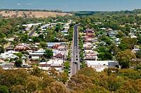 Main street of the farming town of Casterton on the Glenelg River, southwest Victoria, Australia.