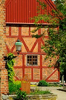 Halftimbered house in Ystad, Sweden.