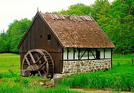 Old water mill in Kulturens Östarp, Scania, Sweden.