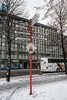 Distances sign pole, Mikkeli Finland.