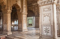 Diwan-i-Khas, in Red Fort, Delhi, India.