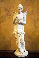 marble statue at the old national gallery in Berlin.