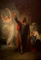 Prosper and Ariel from shakespeare's 'The tempest' by William Hamilton at the old national gallery in Berlin.