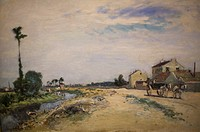 Little channel at the seine near Meudon by Johann Bartholdi Jongkind at the old national gallery in Berlin.